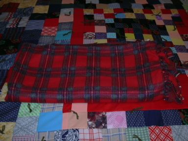 Project Linus blankie in honor of my father for Christmas